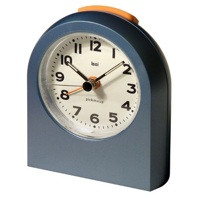 Bai Design Pick-Me-Up Alarm Clock in Metallic Blue