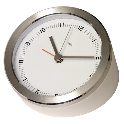 "Bai Design 3.5"" Blanco Executive Alarm Clock"