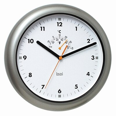 Bai Design Aquamaster Weatherproof Wall Clock in Gunmetal