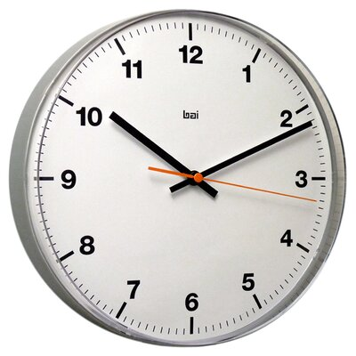 Bai Design Lucite Wall Clock in Accuron White