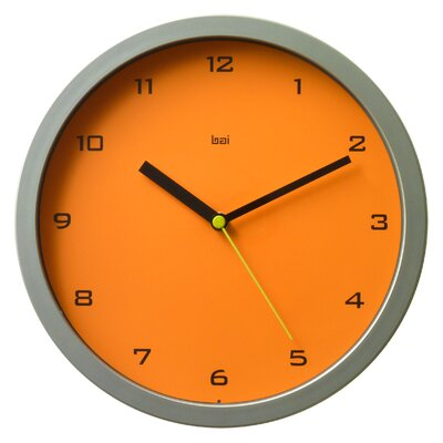 Bai Design Designer Wall Clock in Tangerine