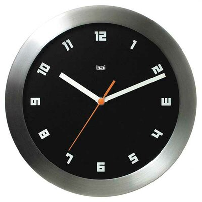 Bai Design Milan Brushed Aluminum Wall Clock