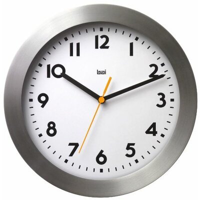 Bai Design Landmark Brushed Aluminum Wall Clock