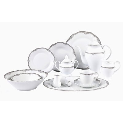 Elizabeth 57 Piece Dinnerware Set