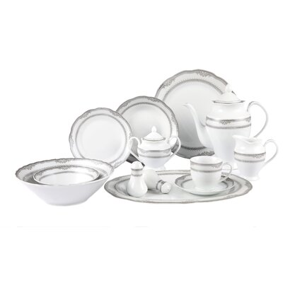 Lorren Home Trends Victoria 57 Piece Dinnerware Set