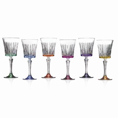 Lorren Home Trends Timeless RCR Crystal Wine Glasses (Set of 6)