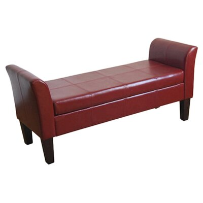 <strong>Kinfine</strong> Faux Leather Storage Bench