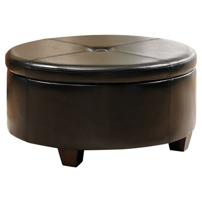 Kinfine Winston Large Round Storage Ottoman | Wayfair