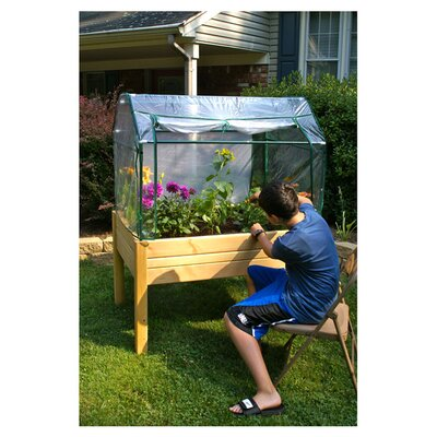 Riverstone Industries Eden Raised Mini Greenhouse and Herb Garden