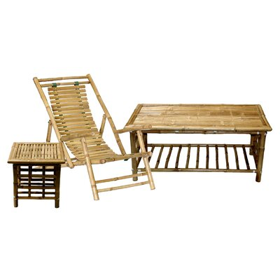 Bamboo54 Bamboo Recliner Beach Chair