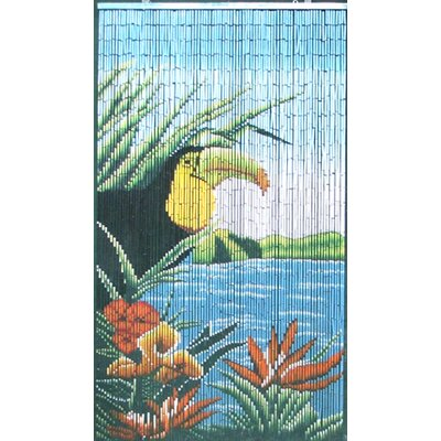 Bamboo54 Natural Bamboo Tucan Curtain Single Panel