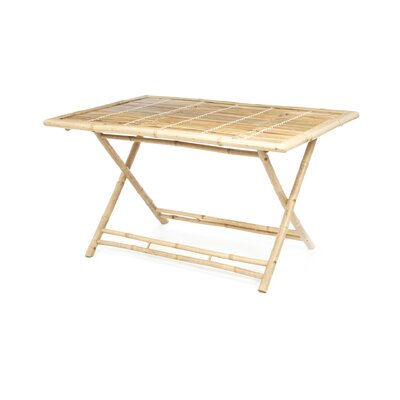 Large Rectangle Bamboo Dining Table