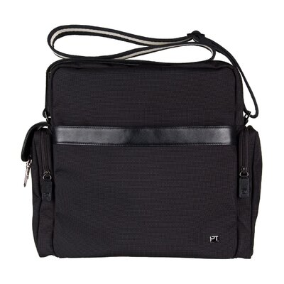 Ballistic Nylon Messenger Bag in Black