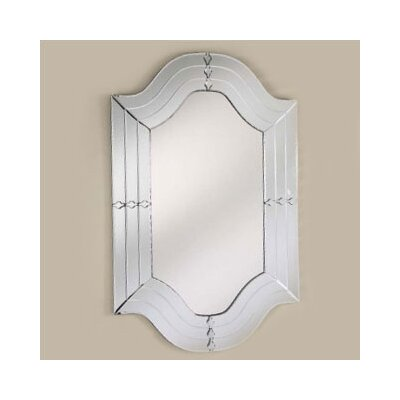 "Afina Radiance 29"" X 47"" Cut Glass Wall Mirror"