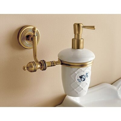 Toscanaluce by Nameeks Wall Mounted Ceramic Liquid Soap Dispenser