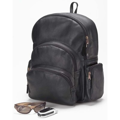 Vachetta Multi-Pocket Backpack in Black
