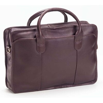Colored Vachetta Classic Top Handle Leather Laptop Briefcase