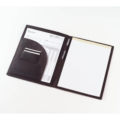 Clava Leather Quinley Pocket Padfolio in Black