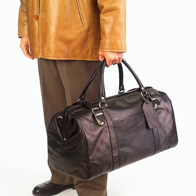 "Clava Leather Tuscan Doctor's 20"" Leather Duffel"