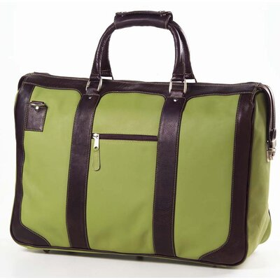 Clava Leather Colored Vachetta Nantucket Flight Bag  in Green/ Café