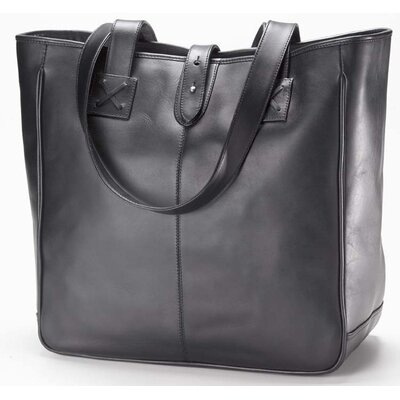 Vachetta Small Open Tab Tote in Black