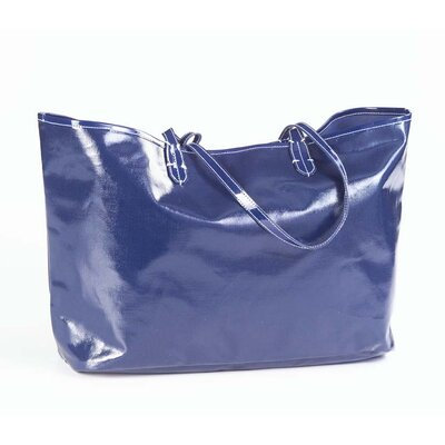 Clava Leather Wellie Market Tote Bag in Navy