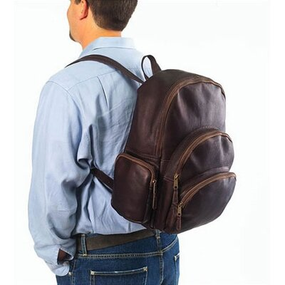 Clava Leather Vachetta Multi-Pocket Backpack in Black