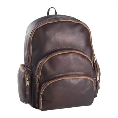 Vachetta Multi-Pocket Backpack in Café