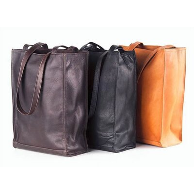 Clava Leather Colored Vachetta Lunch Box Style Tote Bag