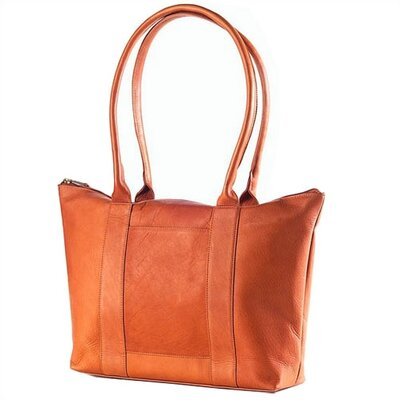 Vachetta Zip Top Shopper Tote in Tan