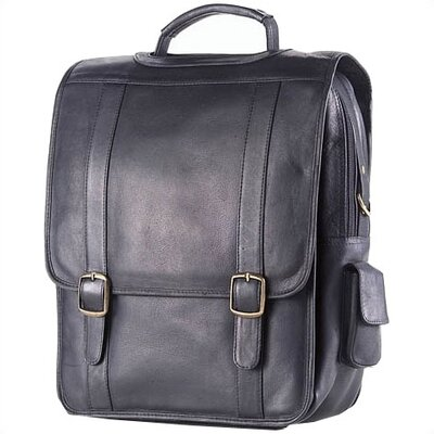 Vachetta Porthole Vertical Laptop Briefcase in Black