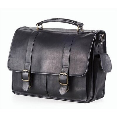 Vachetta Laptop Briefcase in Black