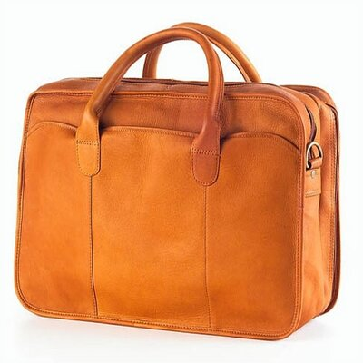 Clava Leather Vachetta Classic Legal Briefcase in Tan