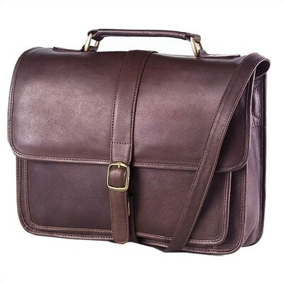 Clava Leather Vachetta Professional School Briefcase in Café