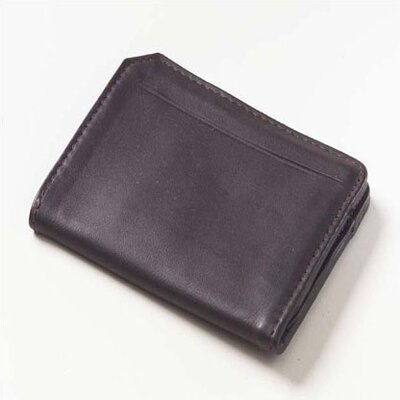 Clava Leather Quinley Front ID Card Wallet in Café