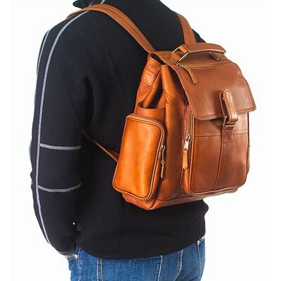 Clava Leather Vachetta Urban Survival Backpack in Tan