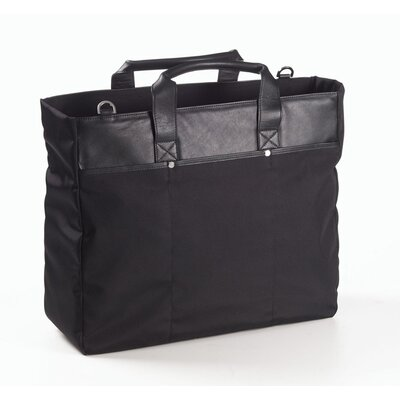 Nylon and Leather Tote Bag