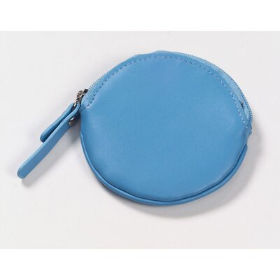 Clava Leather Round Coin Purse in Slate