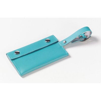 Clava Leather Wrap-Around Luggage Tag