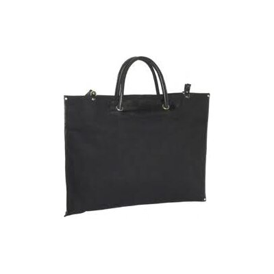 Clava Leather Canvas Roll Up Tote Bag