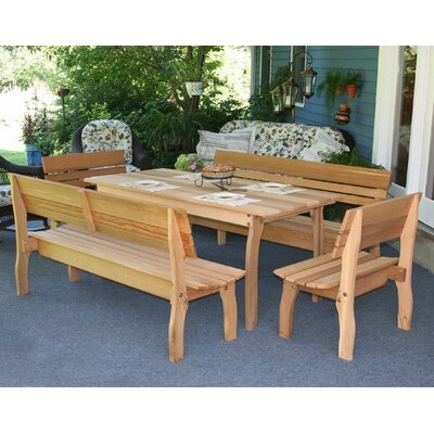 Creekvine Designs Cedar Chickadee 5 Piece Dining Set