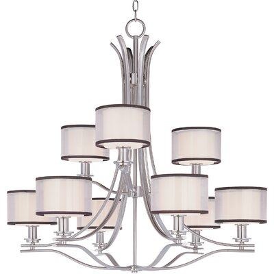 Banded 9 Light Chandelier