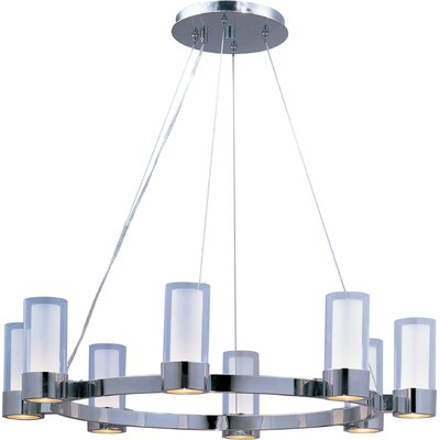 Taniya Nayak Chrome 8 Light Chandelier