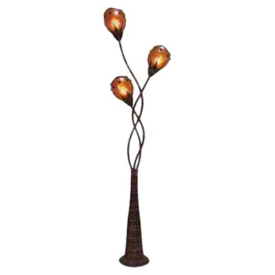 UMA Enterprises Toscana Metal Abaca Decorative Floor Lamp