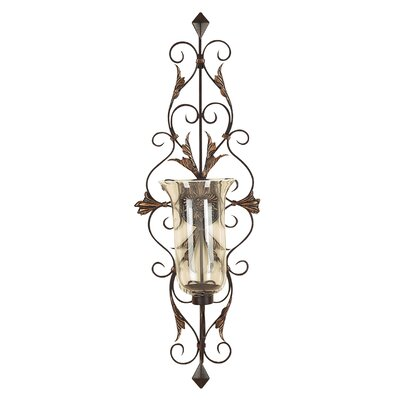 <strong>UMA Enterprises</strong> Toscana Dancing Light Metal Glass Sconce