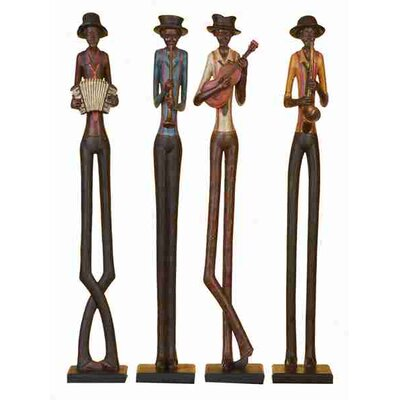 UMA Enterprises Urban Trends 4 Piece Jazz Band Statue Set