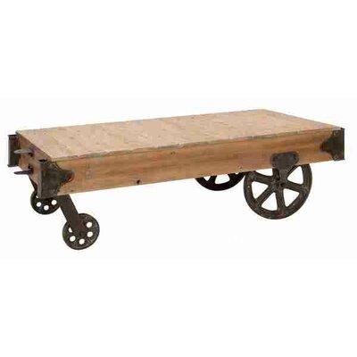 UMA Enterprises Loft Wood Utility Cart / Coffee Table