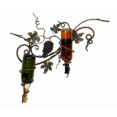 Toscana 2 Bottle Wall Mounted Wine Rack