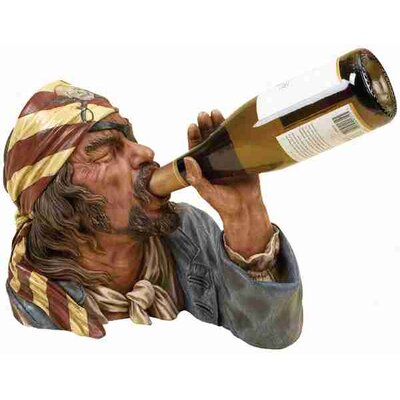 UMA Enterprises Toscana Polystone Pirate Tabletop Wine Rack