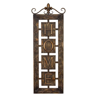 UMA Enterprises Toscana Metal Wall Home Plaque